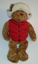 Eddie Bauer stuffed bear with vest and hat