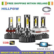 HILLPOW H7 H11 COOL WHITE LED HEADLIGHTS 6500K [CANBUS ERROR FREE*]