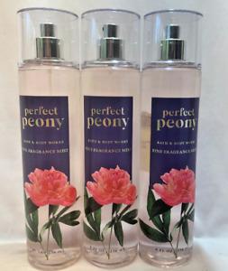 3 PERFECT PEONY Fine Fragrance Mist Bath & Body Works 8 fl oz