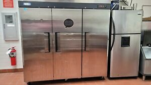 M3 Turbo Air M3R72-3 3 Door Stainless Steel Commercial Refrigerator