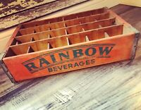 Extremely Rare Vintage Rainbow Beverages Wood Soda Crate Memphis TN