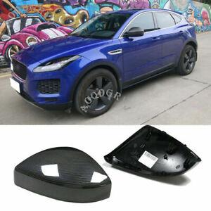 For Jaguar E-PACE 2018-2020 Carbon Fiber Replacement Side Mirror Covers Cap Trim