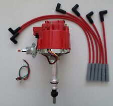 FORD Inline 6 cylinder 64-83 170,200,250 HEI Distributor & RED Spark Plug Wires