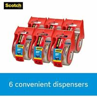 """Scotch Clear Shipping Packing Tape 1.88x800/"""" w//Dispenser Heavy Duty Pick Yours"""