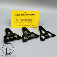 SHIMANO SPD-SL Cleat Spacer Cycling Shoe Shim Kit -  WITH BOLTS