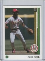 1989 UPPER DECK OZZIE SMITH #265 ST. LOUIS CARDINALS HALL OF FAME