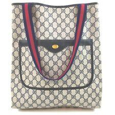 Gucci Tote Bag  Navy Blue PVC 1408734