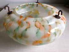 Vintage Art Deco 30's Marbled Glass Flycatcher Bowl Ceiling Hanging Light Shade
