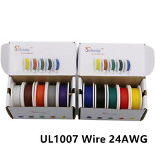 100m UL1007 24AWG 10 color Mix box package Electrical Wire Cable Copper PCB