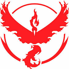 "Pokemon Go Team Valor Red Logo 2"" Decal Sticker pokeball nerdy funny (2x)"