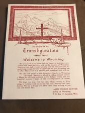 """Vintage Brochure """"The Chapel of the Transfiguration"""" Menors Ferry, Wyoming"""
