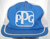Vintage 70s PPG Industries Patch Trucker Hat Swingster Snapback Cap Made in USA