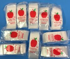 "Top Quality Bags 175175(1.75""X1.75"") 1000 Clear Apple Brand Reclosable Baggies"