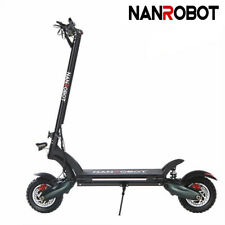 Nanrobot D6+ Electric Scooter 2000W Adult Folding Max 40Mph Disk Brake 40Mph Us