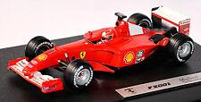 FERRARI F2001 F1 CAMPIONE DEL MONDO #1 M.Schumacher rosso 1:43 Hot Wheels 50213