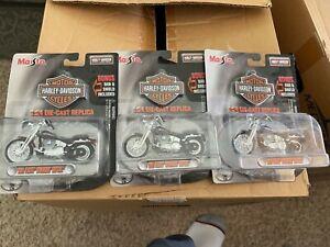 3 Different Miasto Harley Davidson 2001 FXSTS Springer Softail 1/24th Scale