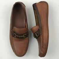 Cole Haan C25979 Men Brown Leather Somerset Link BIT Loafer Driving Shoes sz 11M
