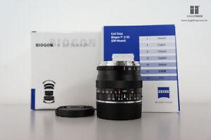 Brand New Carl Zeiss Biogon T* ZM 35mm F2.0 Lens (BLACK) for Leica M / EVIL
