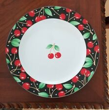 "Mary Engelbreit At Home ""Cherries"" Large Serving Platter Plate 1994 Sakura Nice!"