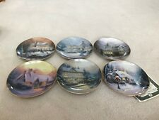 "Thomas Kinkade's  ""Old Fashioned Christmas"" Bradford Exchange Collector Plates"