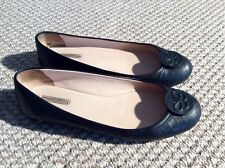 Bottega Veneta Black Leather Ballerina Pumps EU38 Fits UK6