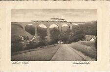 Velbert, Eisenbahnbrücke, Viadukt mit Eisenbahn, alte Ansichtskarte von 1930