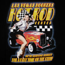 Las Vegas Hookers T-Shirt Large Hot Rod Center Sexy Pin Up Fast Time Strip