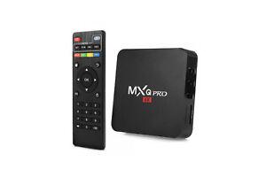 Android tv box wifi internet smart tv full hd 1080p 16 gb mxq pro 4k