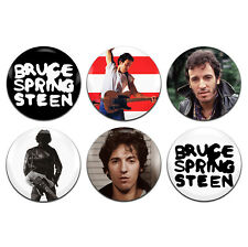 6x Bruce Springsteen Rock 25mm / 1 Inch D Pin Button Badges