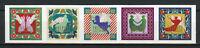 Sweden 2017 MNH Christmas Angels 5v S/A Strip Seasonal Stamps