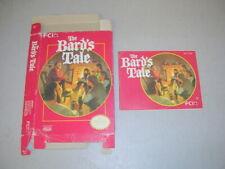 Bard's Tale (Nintendo NES) Original Box and Manual, No Game
