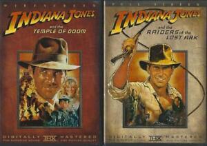 DVD: LOT OF 2  INDIANA JONES RAIDERS OF LOST ARK-TEMPLE DOOM HARRISON FORD