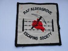 Northern Ireland  troubles RAF ALDERGROVE ESCAPING SOCIETY members cloth patch