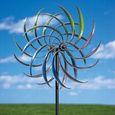 "Durable Metal 74"" Kinetic Rainbow Wind Spinner Outdoor Lawn Décor Yard Art"