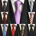 "XT179-196 Men Classic Striped Solid Dot Silk Tie Necktie JACQUARD Neck Tie 3.1"""