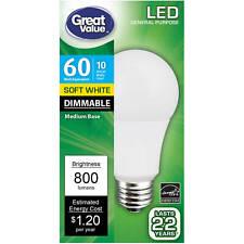 Single l Dimmable l 10 Watt l Soft White l 800 lumens l LED l fast free shipping