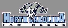 "North Carolina Tarheels 9"" Wordmark Logo Vinyl Decal Sticker - Full Color"