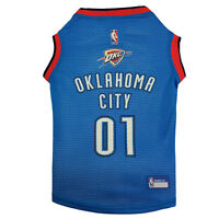 Oklahoma City Thunder NBA Officially Licensed Pets First Dog Mesh Blue Jersey