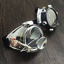 Steampunk Goggles with Ocular Punk Biker goth Cosplay Custome Halloween party