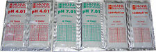 6 x Hanna soluzione di taratura Sacchetti 2 x 4.01 pH, 2 x 7.01 ph, 2 x 12880 US CE