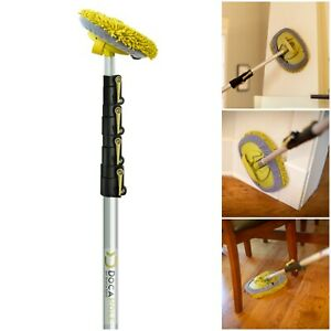 DocaPole 7-30 Foot (2.1-9.1 m) Wall Duster Extension Pole   Chenille Microfiber