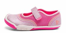 Pink MaryJane Sneakers Mesh and Leather   Little Girls Size 10 1/2