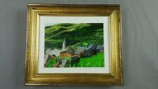 "Original Acrylic on Canvas Painting Paul Shaub Spanish Pyrenes 12.25x10.5"""