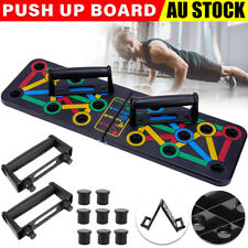 New listing 14 in1 Push Up Board Bar Grip Handle Muscle Train Rack Fitness Strength Stand AU