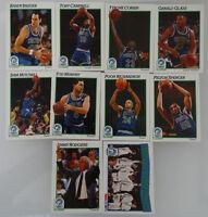 1991-92 Hoops Minnesota Timberwolves Team Set Of 10 Basketball Cards