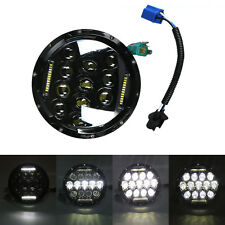 "7"" INCH 75W LED Headlight Hi/Lo Beam DRL Fit Jeep Wrangler CJ JK LJ"