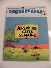 SPIROU LE JOURNAL DE SPIROU 1618 Avril 1969 mini-recits