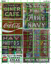 1012 DAVE'S DECALS ARMY NAVY STORE CAFE PHOTO STUDIO OLD BUILDING GHOST SIGNS