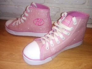 HeelysShoes Pink Glitter Adult Size 5. Excellent condition