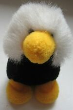 Vintage Nici Plush Baby Crested Duckling Bird Black White Yellow Stuffed Animal